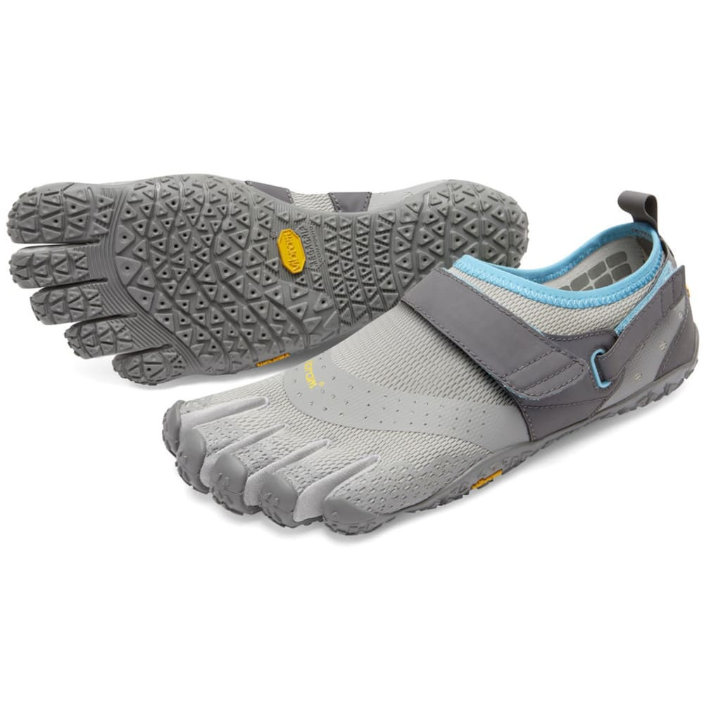 VIBRAM V-Aqua Women's Trail Running Shoes - GREY/BLUE