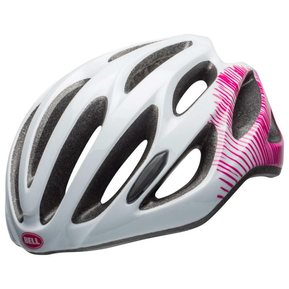 BELL Tempo Joy Ride Bike Helmet - WHITE/CHERRY FIBERS