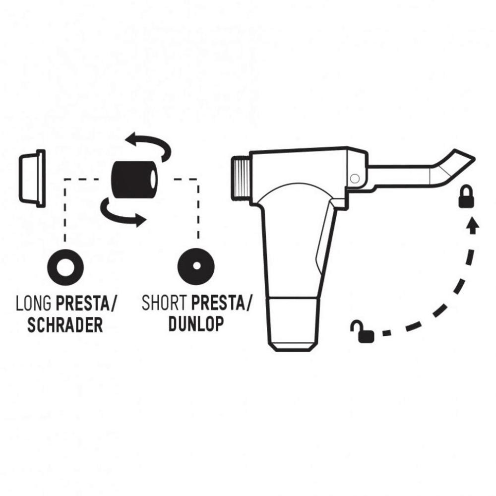 BLACKBURN Piston 2 Floor Pump - BLACK/CYAN