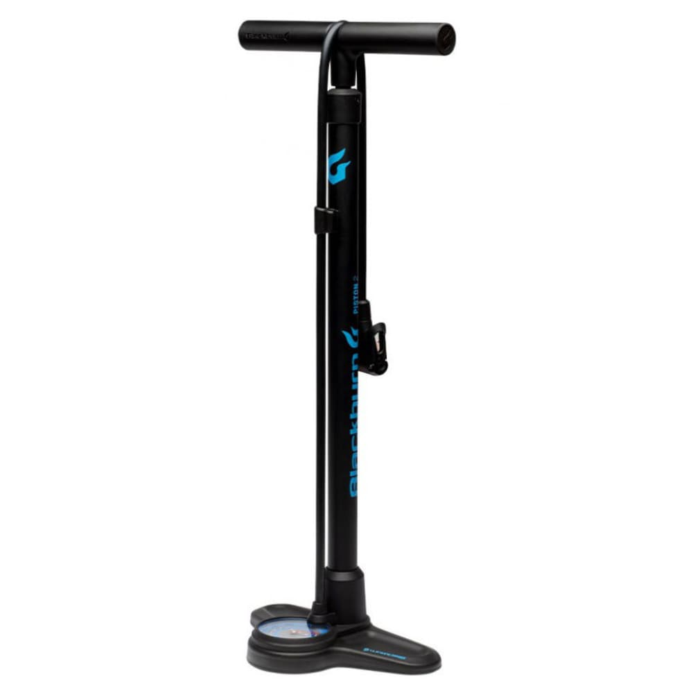 BLACKBURN Piston 2 Floor Pump - BLACK/CYAN