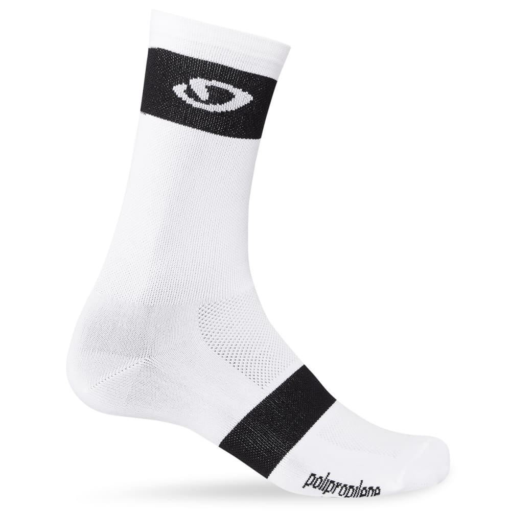 GIRO Comp Racer High Rise Socks - WHITE/BLACK