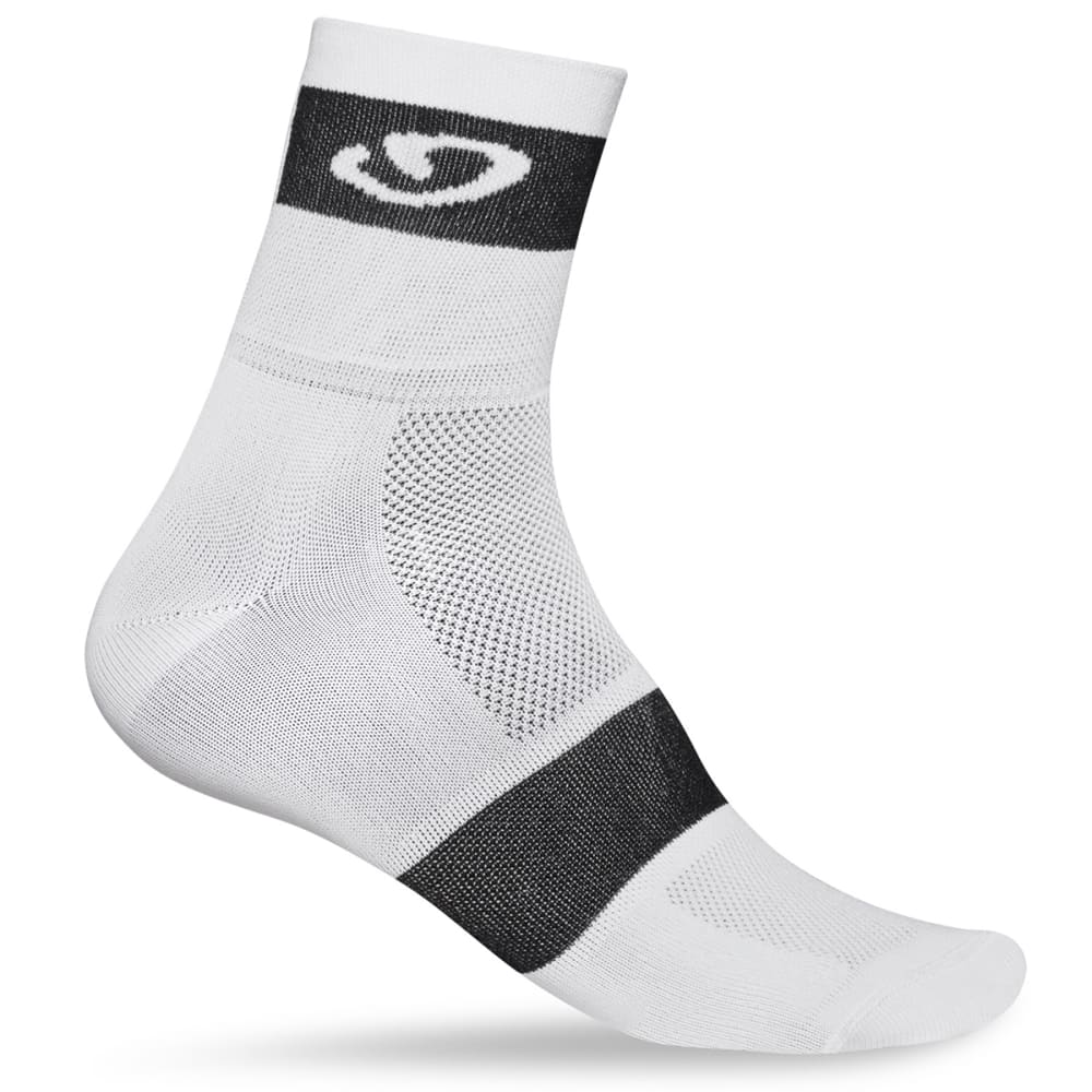 GIRO Comp Racer Sock - WHITE/BLACK
