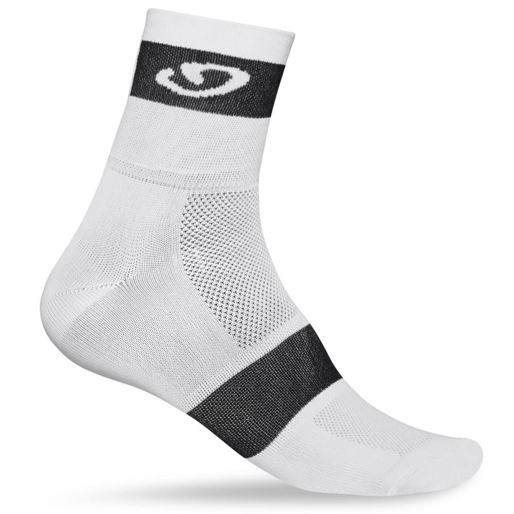 GIRO Comp Racer Sock - WHITE/BLACK