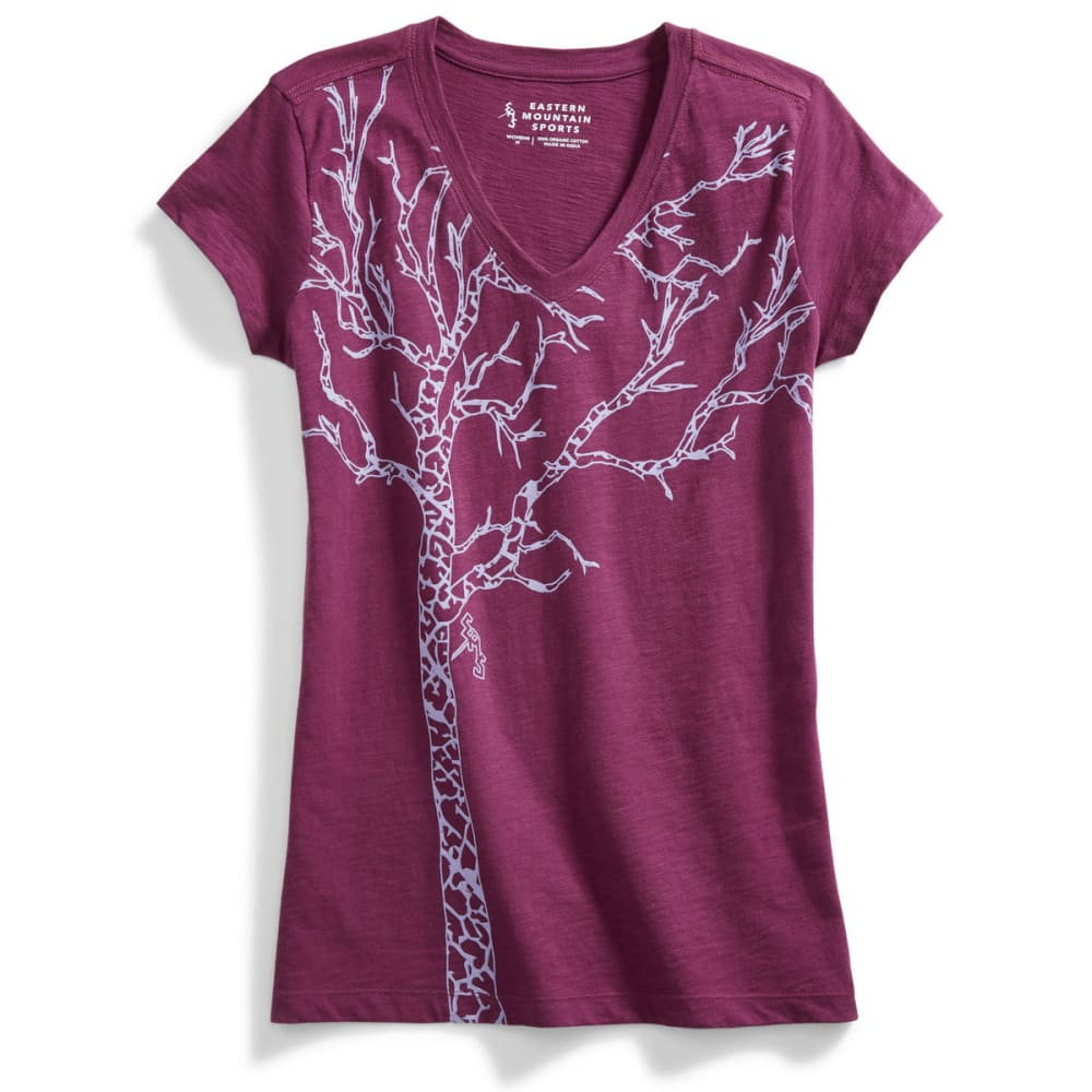 EMS Women's Timber Graphic Tee - AMARANTH