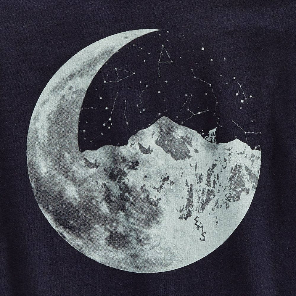 EMS Women's Ride Moon Mountain Graphic V-Neck Tee - NAVY BLAZER