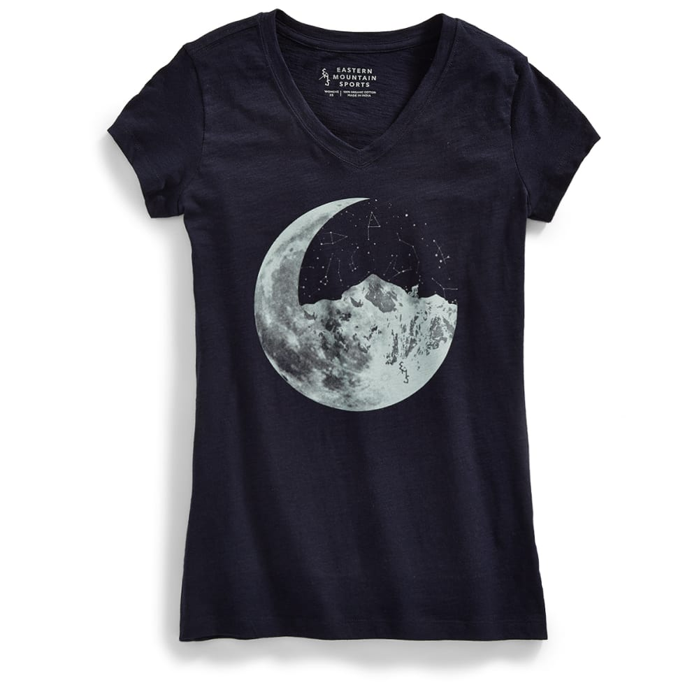 EMS® Women's Ride Moon Mountain Graphic V-Neck Tee - NAVY BLAZER