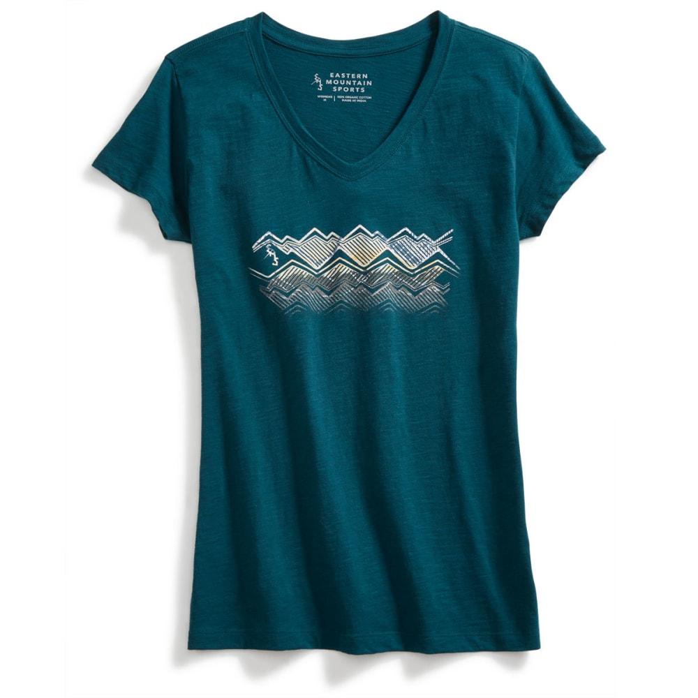 EMS Women's Strata 2 Graphic Tee - DEEP TEAL