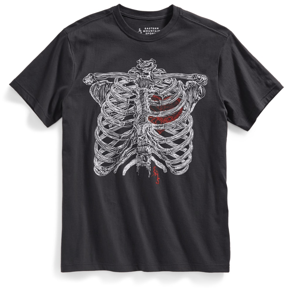 EMS Men's My Heart Pumps Pedals Graphic Tee - PHANTOM