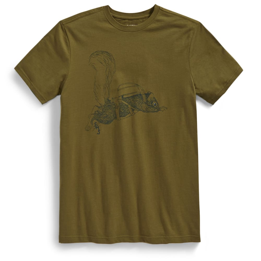 EMS Men's Irving Goes Skydiving Graphic Tee - MARTINI OLIVE