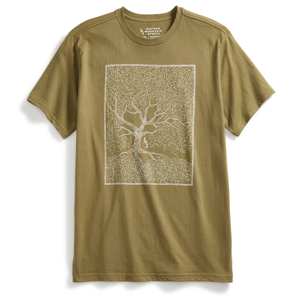EMS Men's Twisted Tree Graphic Tee - MARTINI OLIVE