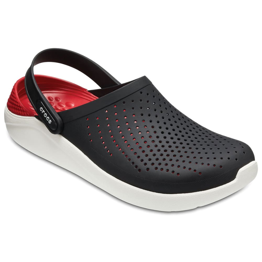 CROCS Unisex LiteRide Clogs - BLACK/WHITE-066