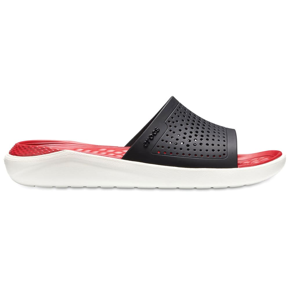 CROCS Unisex LiteRide Slide Sandals - BLACK/WHITE-066