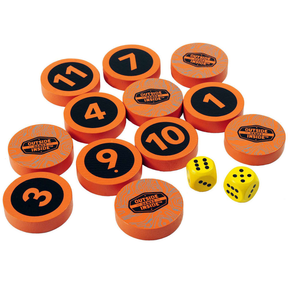 OUTSIDE INSIDE Backpack Shut the Box Game - NO COLOR