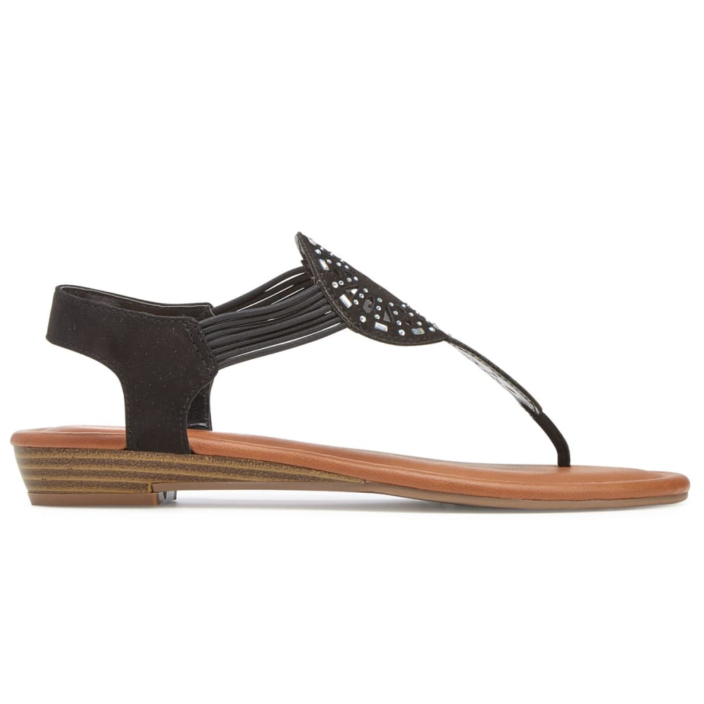 RAMPAGE Women's Candia Cutout Sandals - BLACK