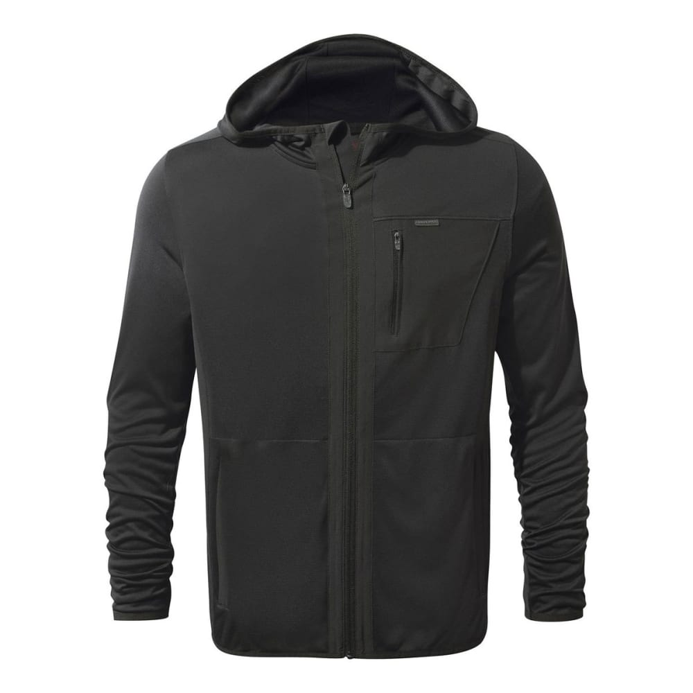 CRAGHOPPERS Men's NosiLife Elgin Hooded Jacket - BLACK PEPPER - 7J8