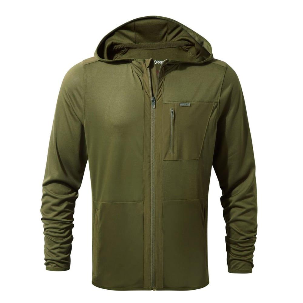 CRAGHOPPERS Men's NosiLife Elgin Hooded Jacket - DARK MOSS - 7PF