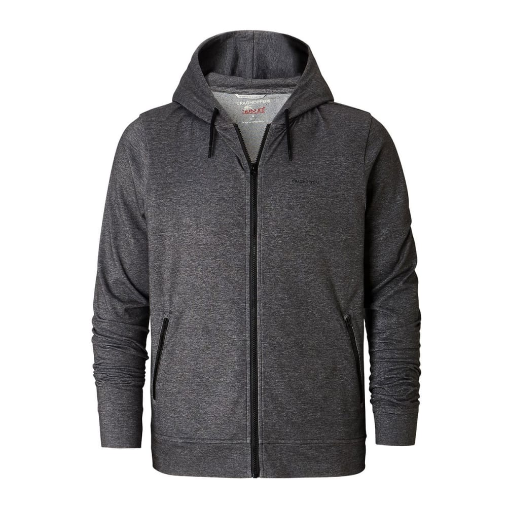CRAGHOPPERS Men's NosiLife Tilpa Hooded Jacket - BK PEPPER MARL - 1MN