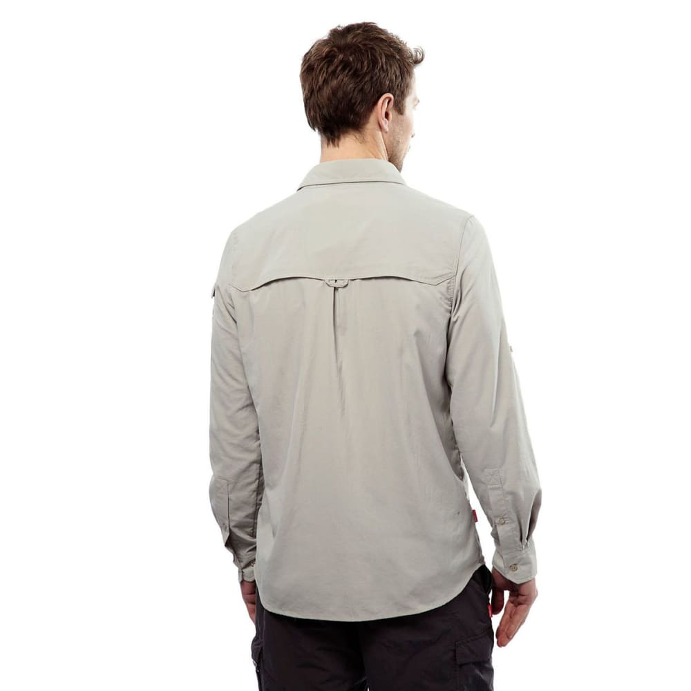 CRAGHOPPERS Men's Insect Shield NosiLife Adventure Long-Sleeve Shirt - PARCHMENT-222