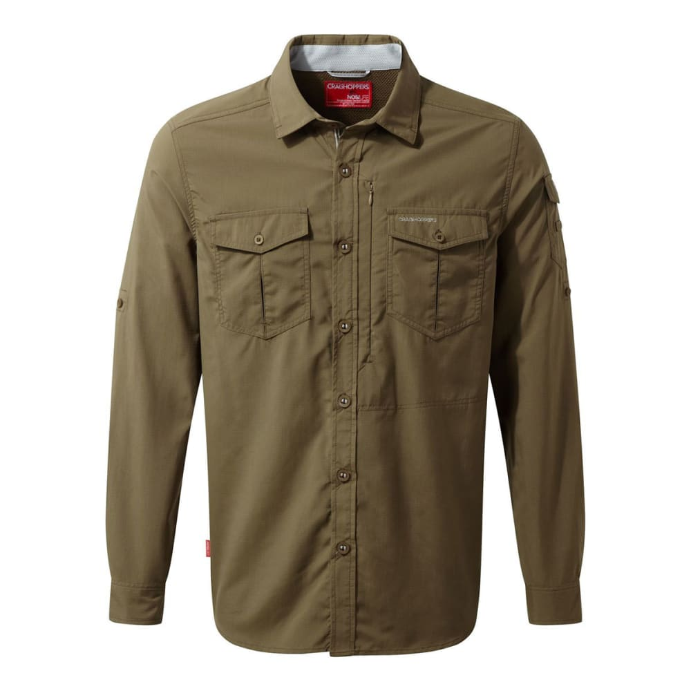 CRAGHOPPERS Men's Insect Shield NosiLife Adventure Long-Sleeve Shirt - KANGAROO-9JN