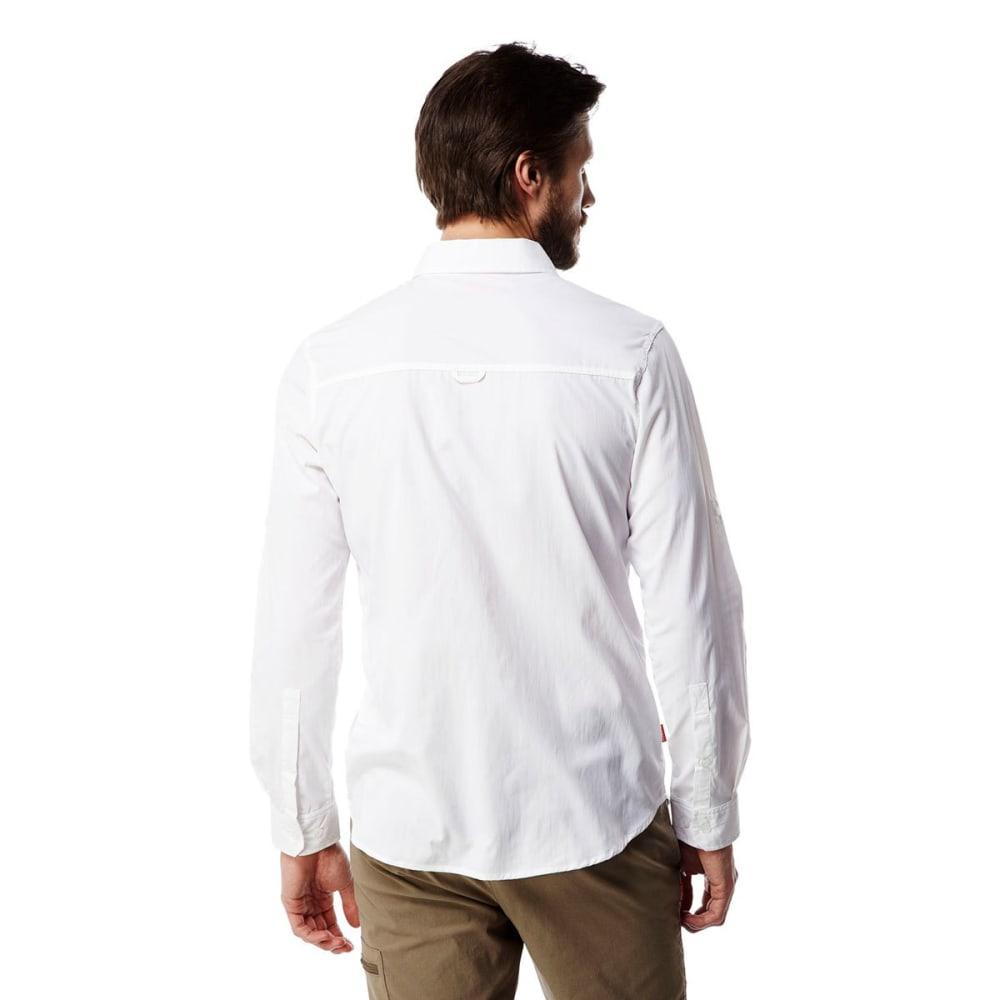 CRAGHOPPERS Men's NosiLife Tatton Long-Sleeve Shirt - OPTIC WHITE-3ER