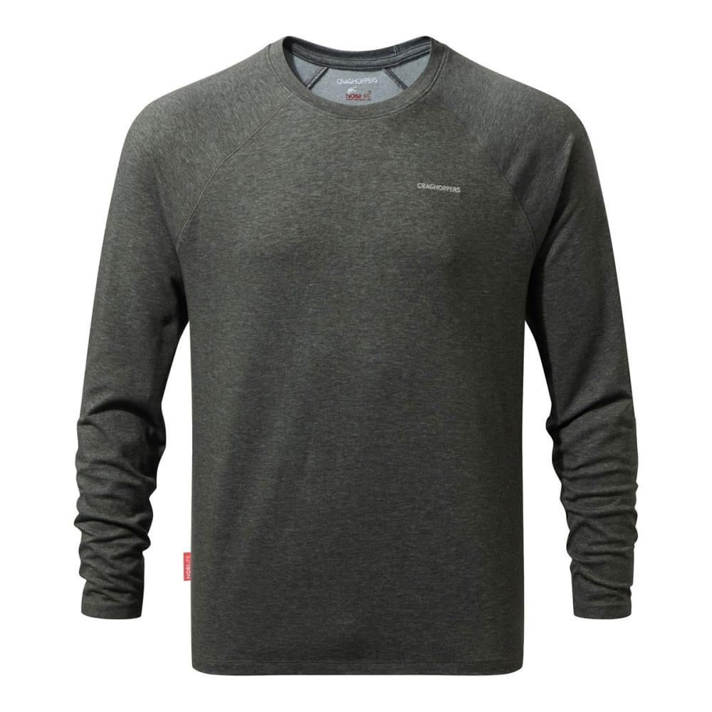 CRAGHOPPERS Men's NosiLife Bayame Long-Sleeve Shirt - BLK PEPPER MARL-1MN