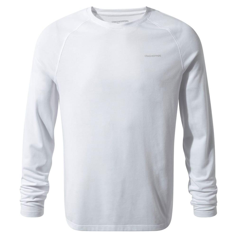 CRAGHOPPERS Men's NosiLife Bayame Long-Sleeve Shirt - OPTIC WHITE-3ER