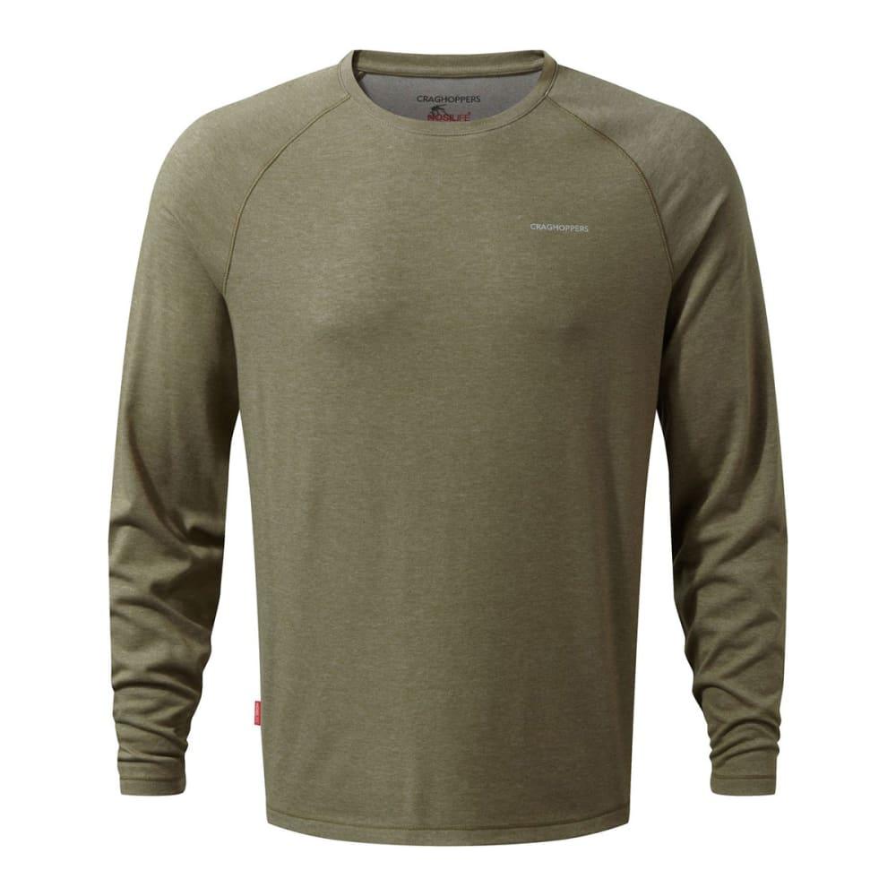CRAGHOPPERS Men's NosiLife Bayame Long-Sleeve Shirt - KANGAROO MARL-71V