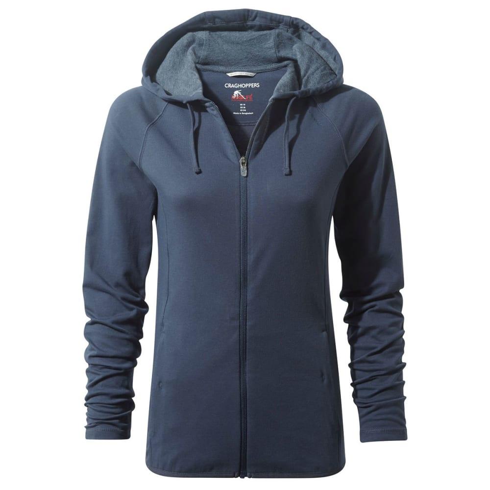 CRAGHOPPERS Women's NosiLife Sydney Hooded Jacket - SFT NAVY MARL-7ML