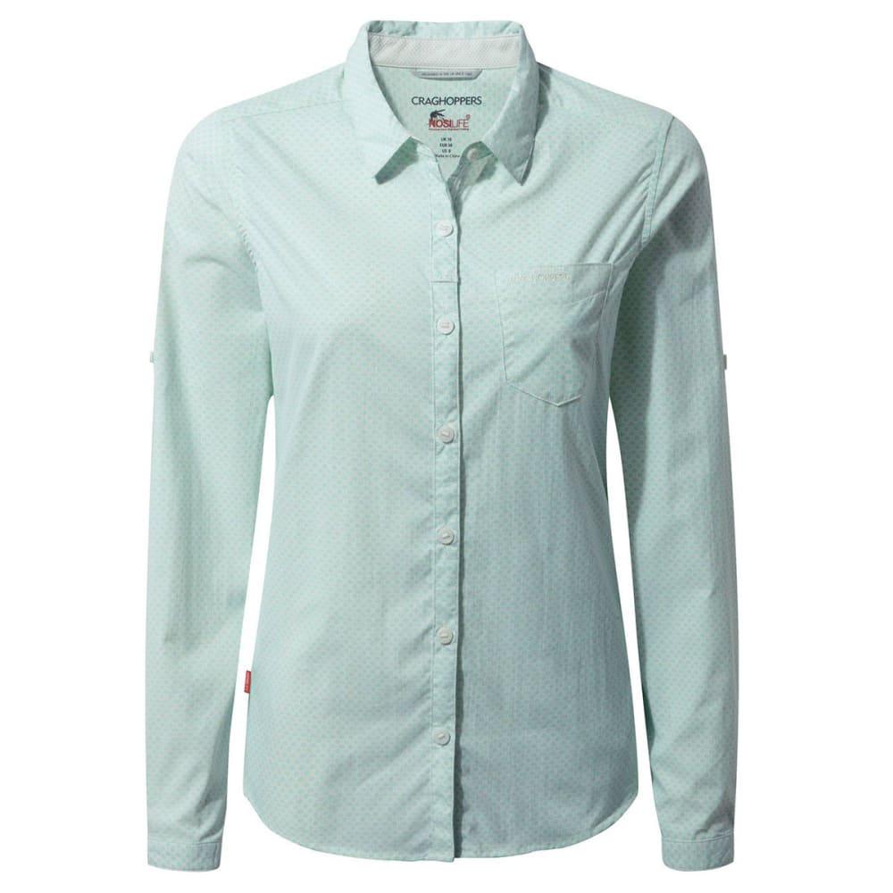 CRAGHOPPERS Women's NosiLife Adoni Long Sleeve T-Shirt - SEA SPRAY-9JE
