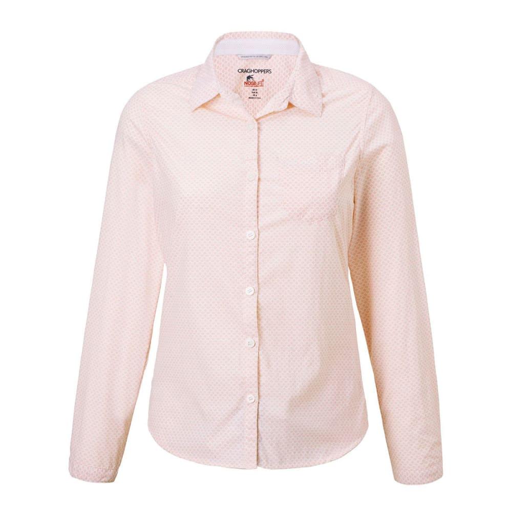 CRAGHOPPERS Women's NosiLife Adoni Long Sleeve T-Shirt - BLOSSOM PINK-71P
