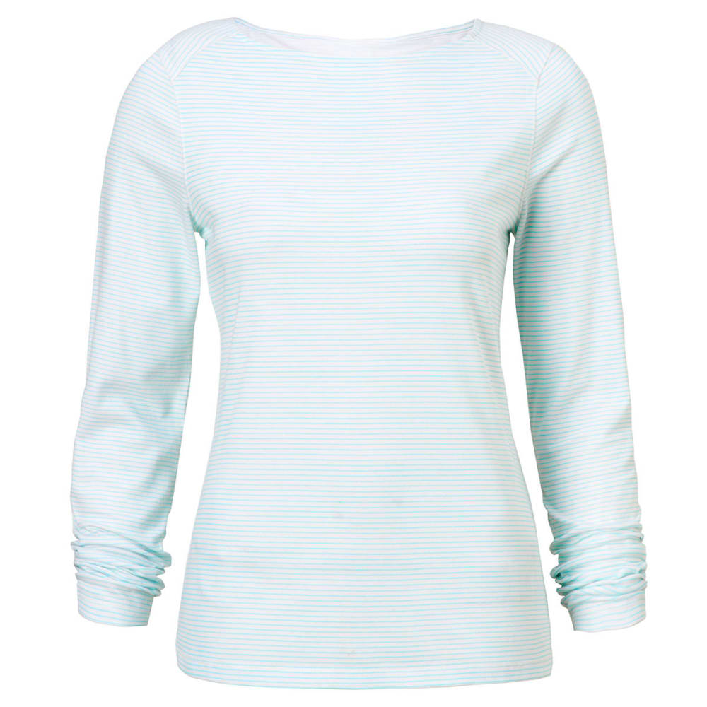 CRAGHOPPERS Women's NosiLife Erin Long Sleeved Tee Shirt - SEA SPRAY STRP-3LJ
