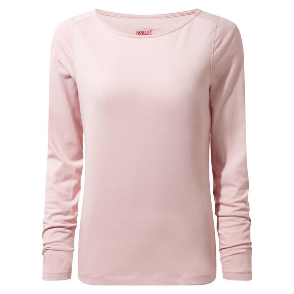 CRAGHOPPERS Women's NosiLife Erin Long Sleeved Tee Shirt - BLOSSOM PINK-71P