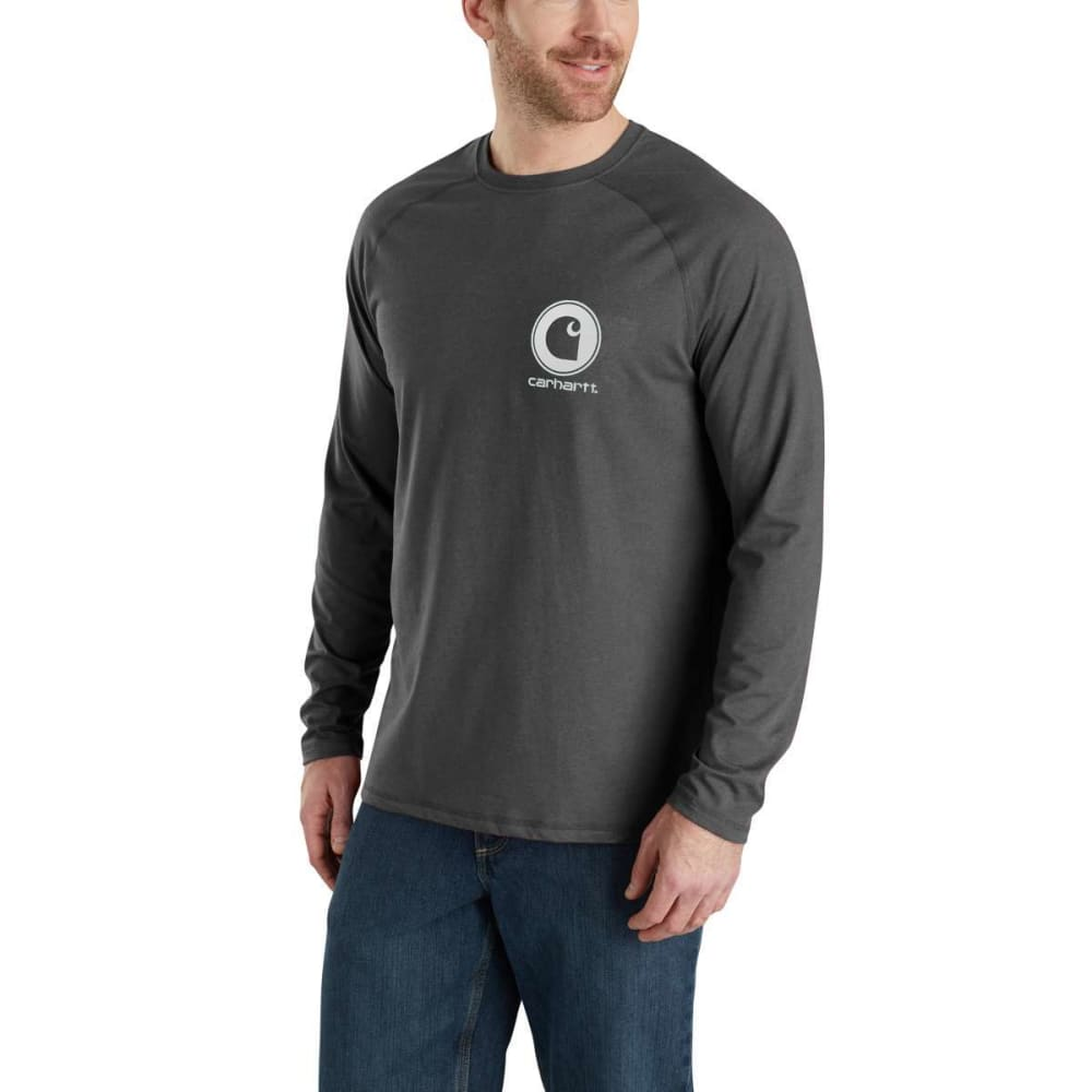CARHARTT Men's Force Delmont Long-Sleeve Graphic Tee M