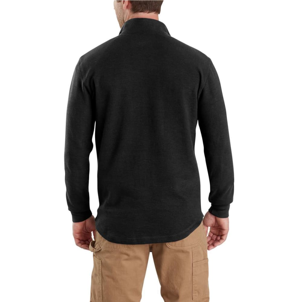 CARHARTT Men's Tilden Long-Sleeve Waffle Knit Half-Zip Pullover - 001-BLACK