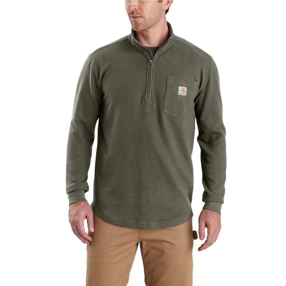 CARHARTT Men's Tilden Long-Sleeve Waffle Knit Half-Zip Pullover - 316-MOSS