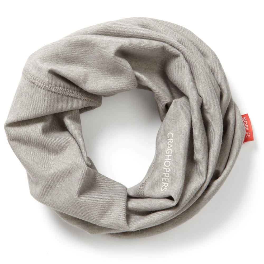 CRAGHOPPERS Women's NosiLife Tube Scarf - SOFT GREY MRL-3S1