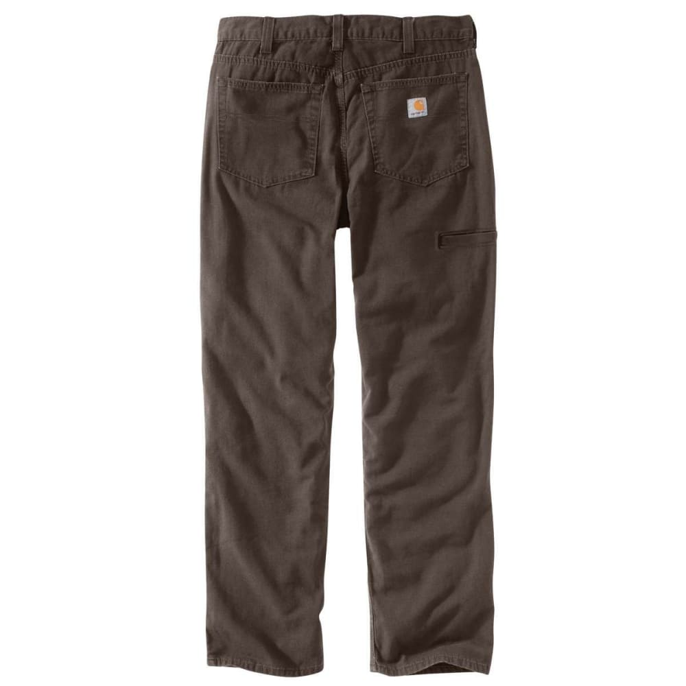 CARHARTT Men's Rugged Flex Rigby 5-Pocket Work Pants - 909 DARK COFFEE