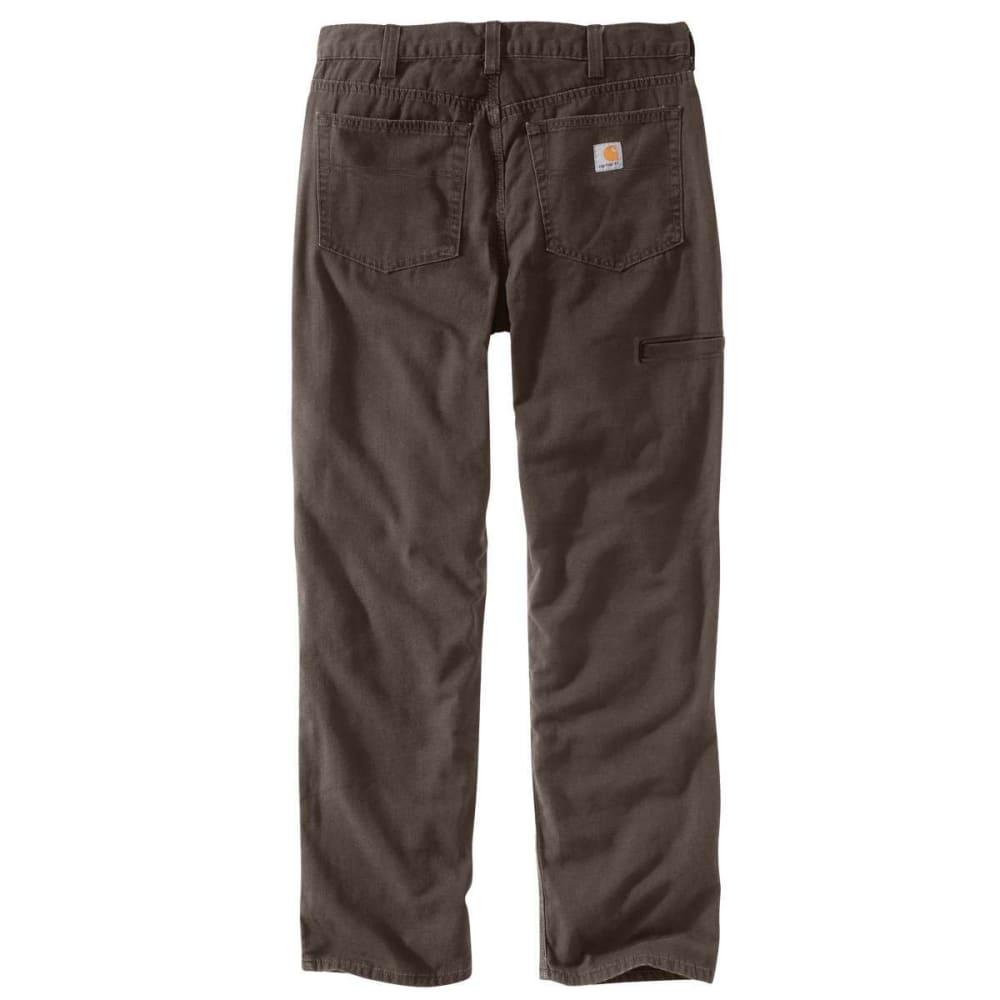 CARHARTT Men's Rugged Flex Rigby 5-Pocket Work Pants - 909 DARK COFFEE