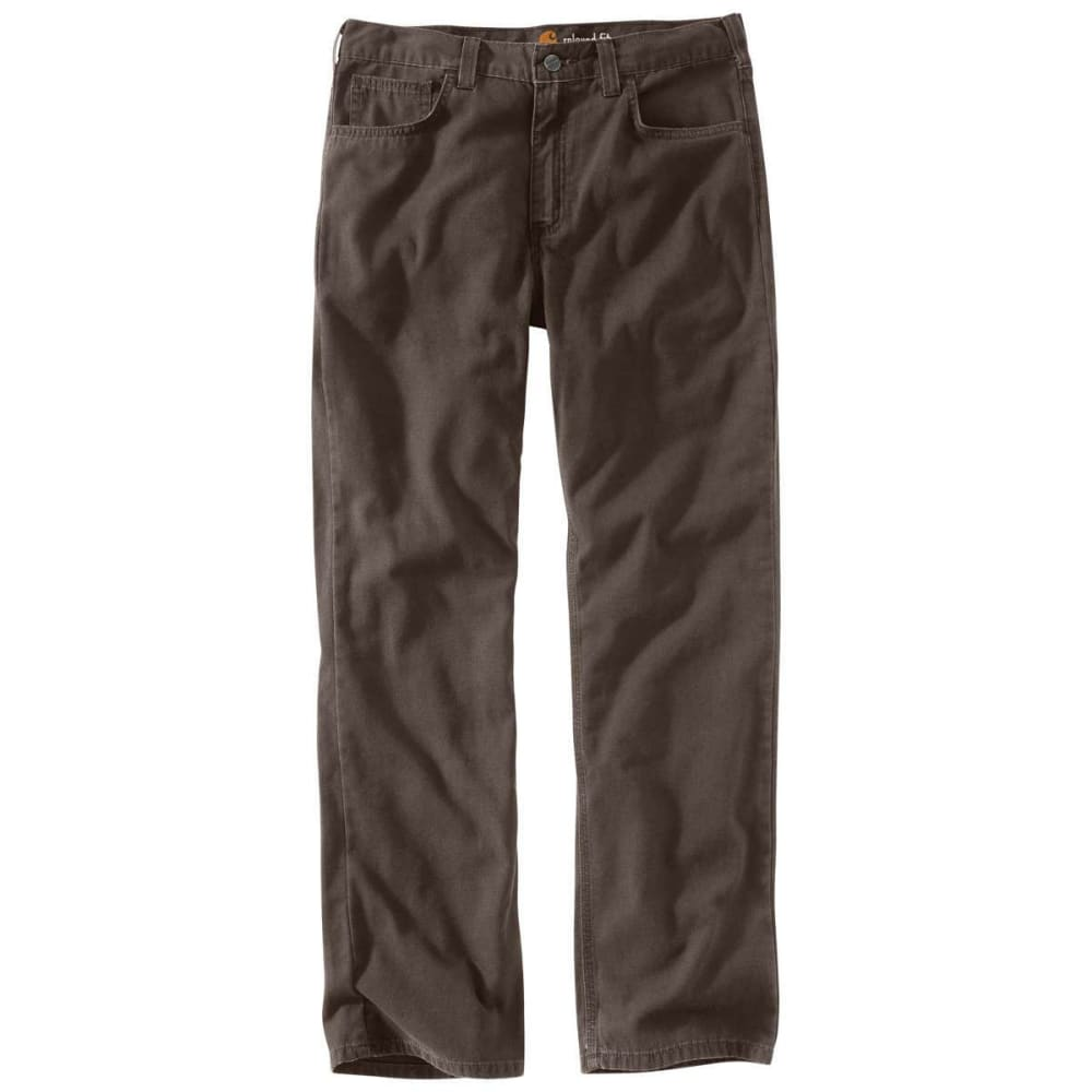 CARHARTT Men's Rugged Flex Rigby 5-Pocket Work Pant - 909 DARK COFFEE