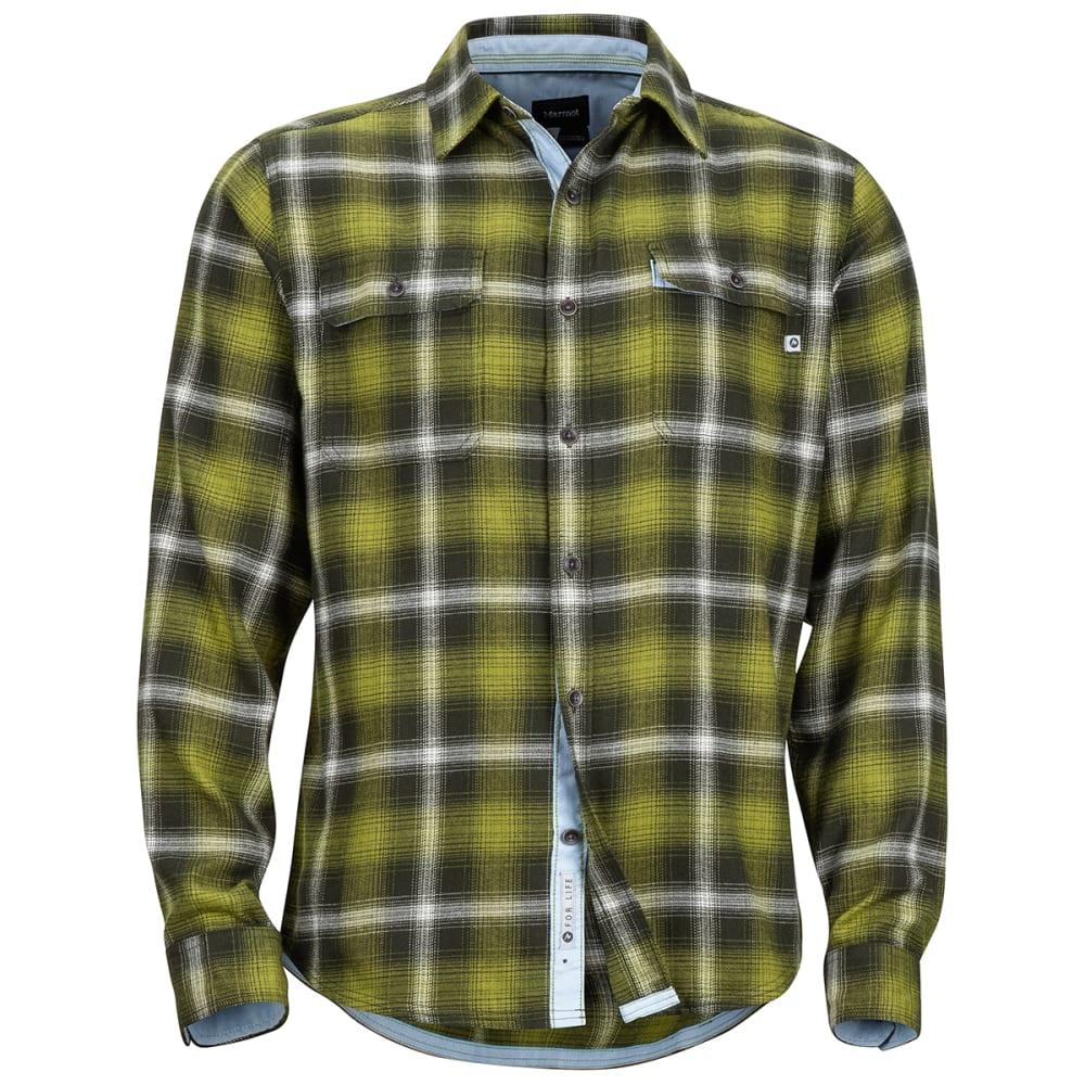 MARMOT Men's Jasper Midweight Long-Sleeve Flannel Shirt - 7753 FATIGUE