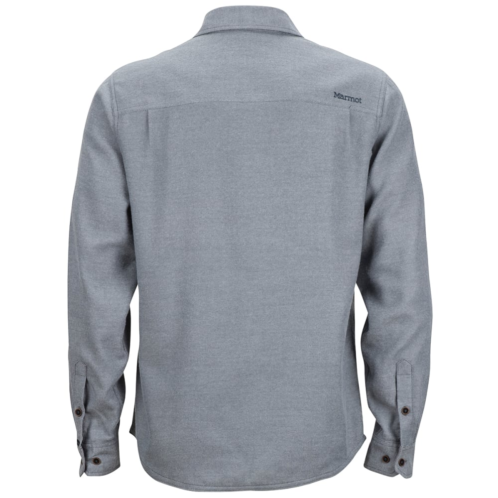 MARMOT Men's Hobson Midweight Flannel Long-Sleeve Shirt - 8702 STEEL ONYX
