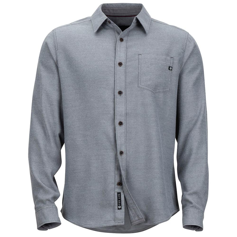 MARMOT Men's Hobson Midweight Flannel Long-Sleeve Shirt - 8702 STEEL ONYX