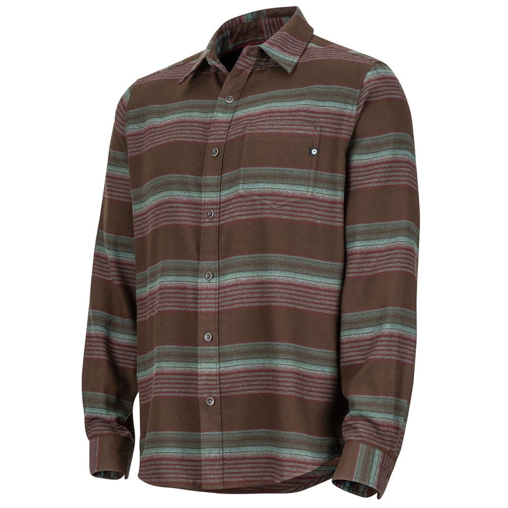 MARMOT Men's Enfield Midweight Flannel Long-Sleeve Shirt - 7521 DARK BROWN