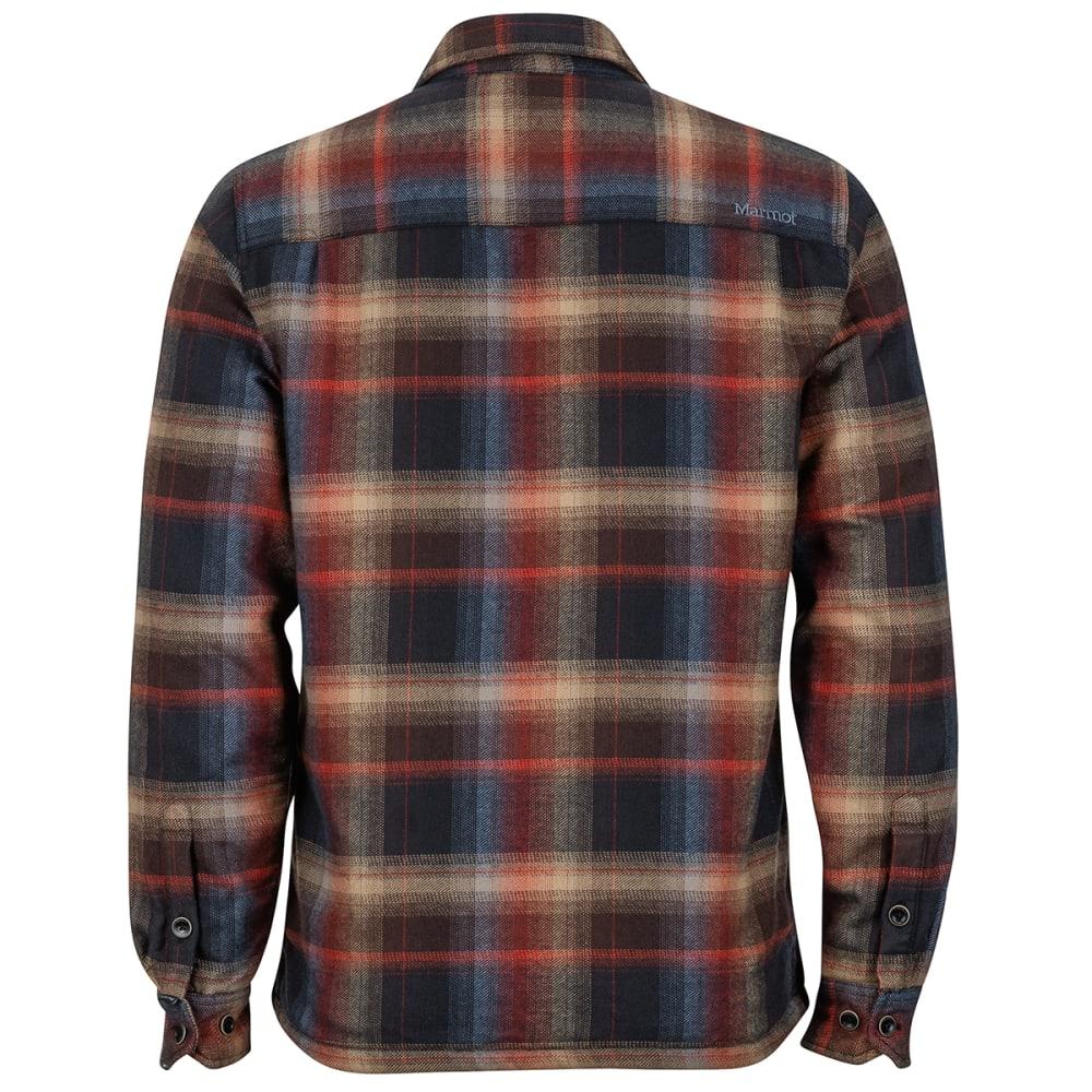 MARMOT Men's Ridgefield Long-Sleeve Flannel Shirt - 001-BLACK