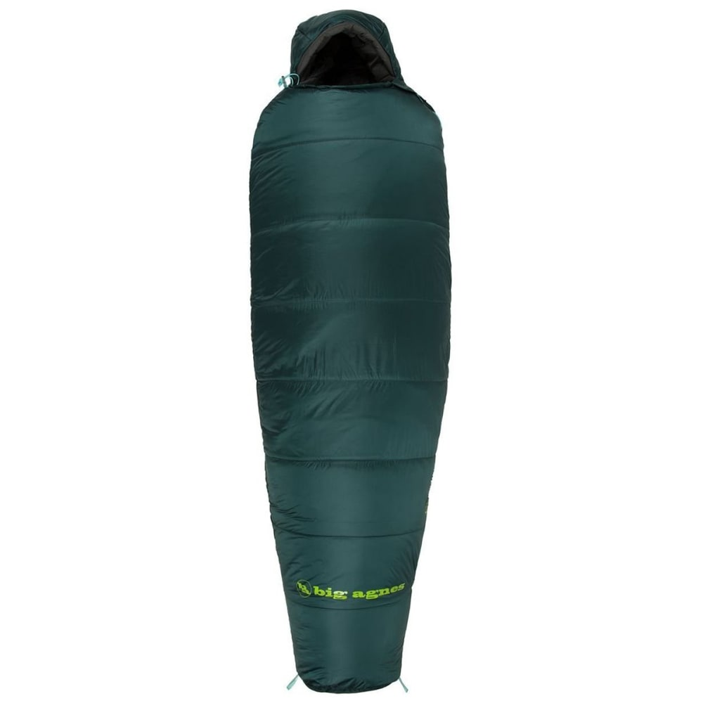 BIG AGNES Benchmark 0 Sleeping Bag, Long - GREEN