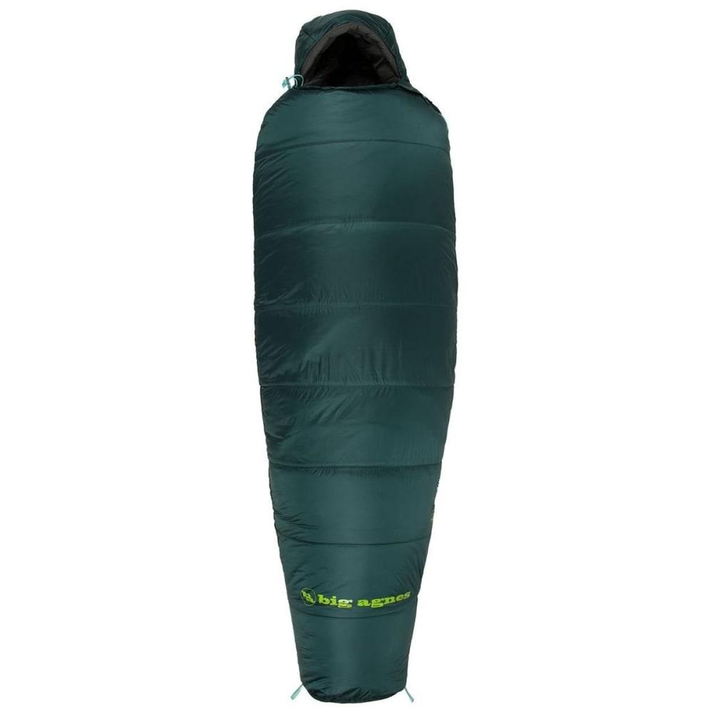BIG AGNES Benchmark 0 Sleeping Bag, Long - GREEN