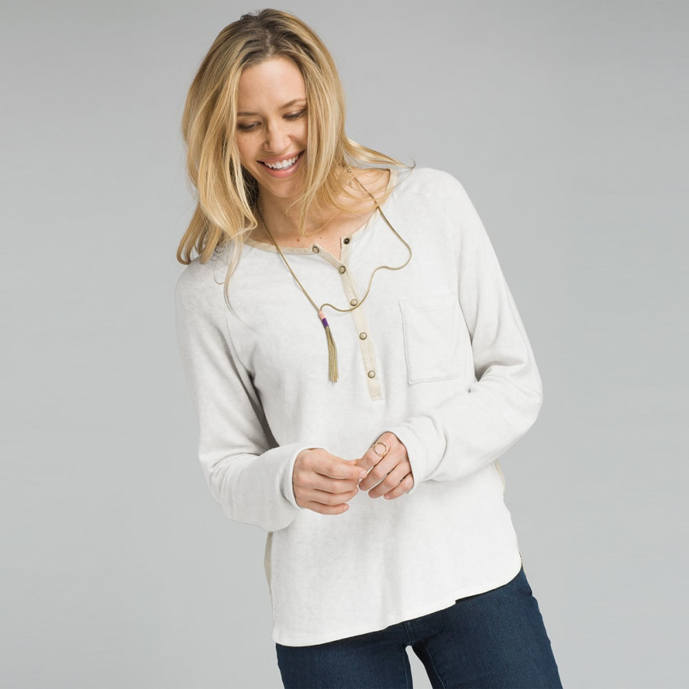 PRANA Women's Hensley Long-Sleeve Henley Top - BONE
