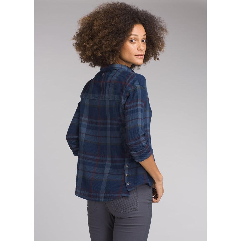 PRANA Womens Fillary Woven Long-Sleeve Top - NAUTICAL