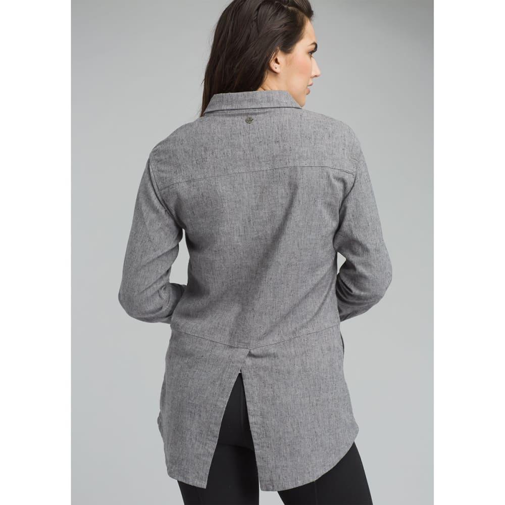 PRANA Womens Aster Long-Sleeve Tunic Top - GRAVEL