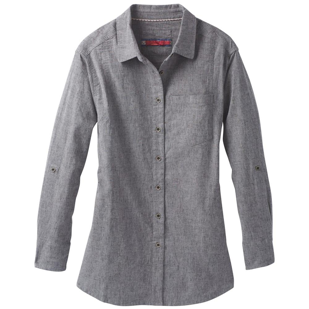 PRANA Women's Aster Long-Sleeve Tunic Top - GRAVEL